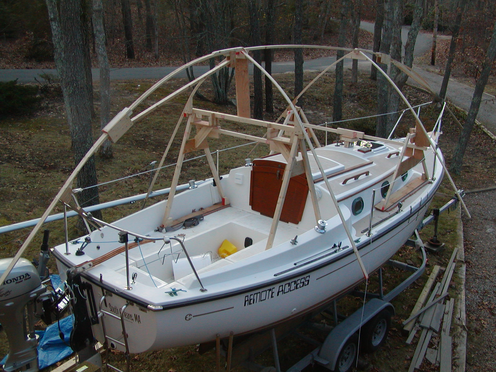New Boat Cover Frame